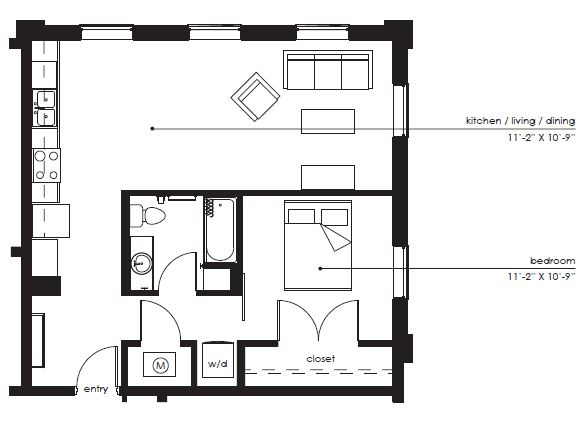 Floorplan - The Sawyer A-1 image