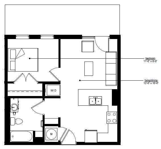 Floorplan - The Rise B.1 image