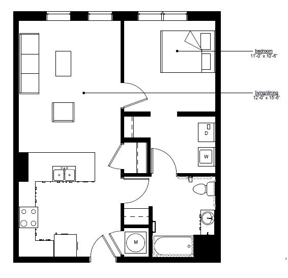 Floorplan - The Rise B.2 image