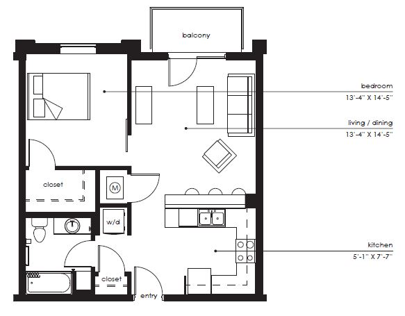 Floorplan - The Sawyer B-1 image