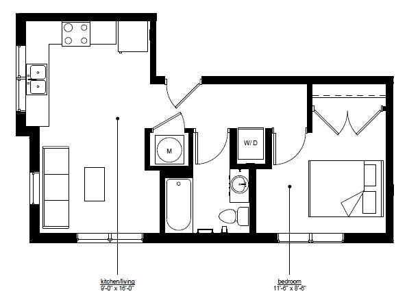 Council Bluffs Properties - Floorplan - The Rise C.1
