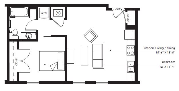 Floorplan - The Sawyer C-1 image