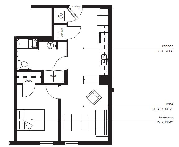 Floorplan - The Sawyer D-1 image