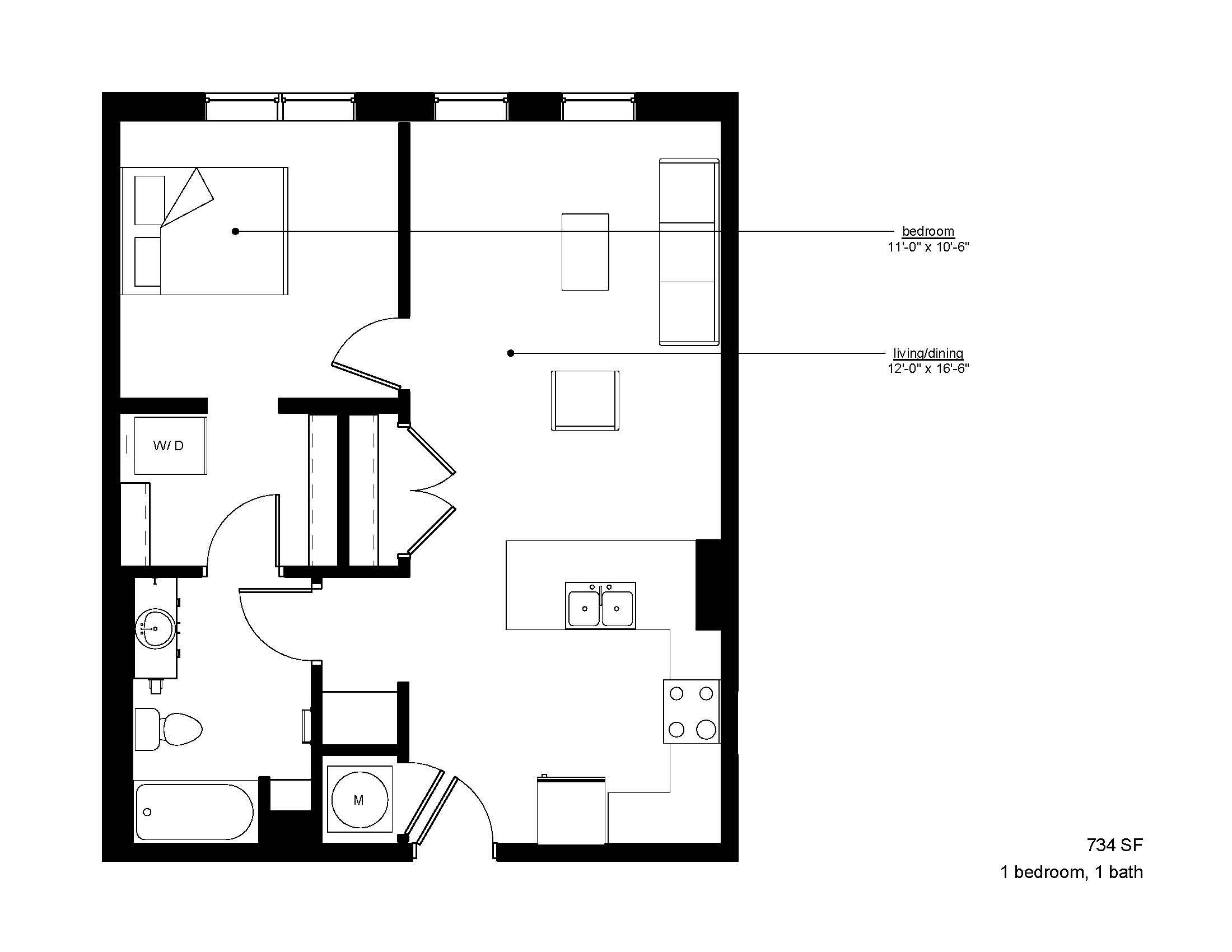 Floorplan - The Rise A.1 image