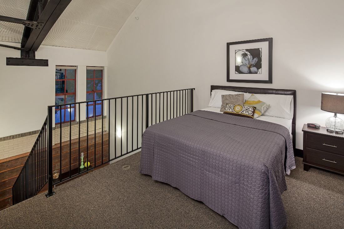 Bedroom at 3 Point Apartments in Council Bluffs, IA