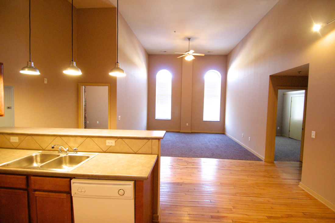 Spacious Kitchen Interior at 1892 Apartments in Council Bluffs, IA