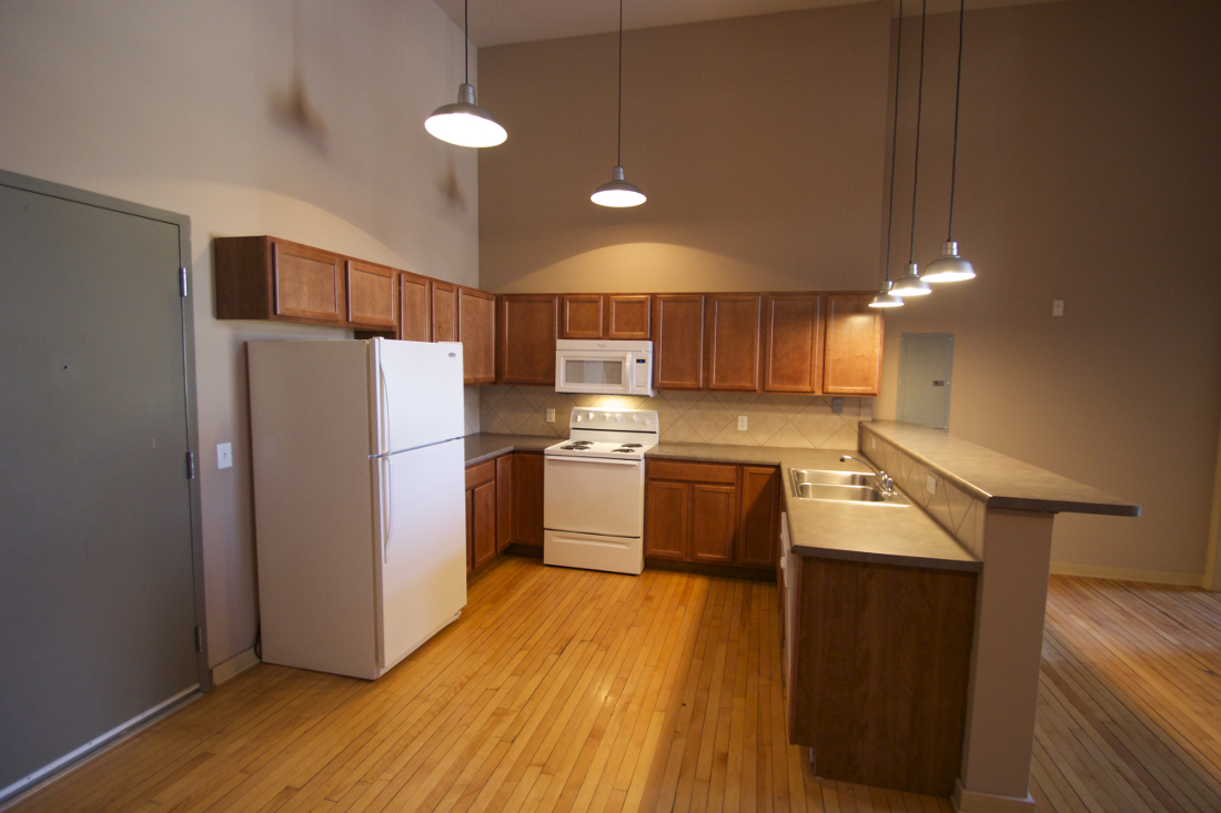 Kitchen at 1892 Apartments in Council Bluffs, IA