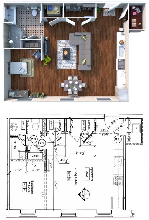 300 Alexander Apartments - Floorplan - Studio
