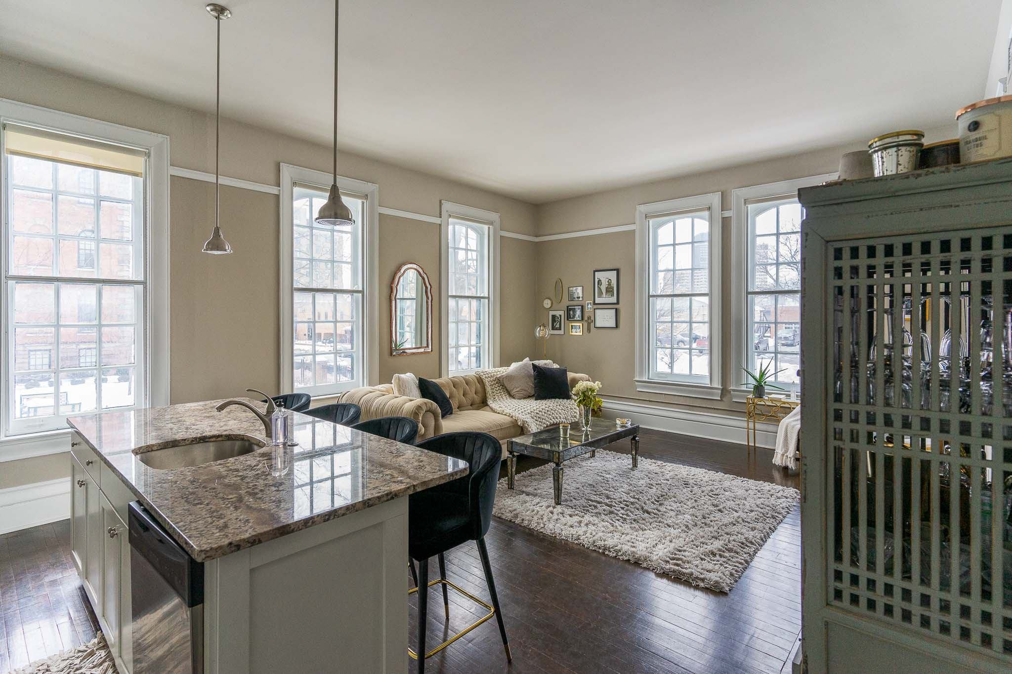 Open Floor Plans at the 300 Alexander Apartments in Rochester, New York