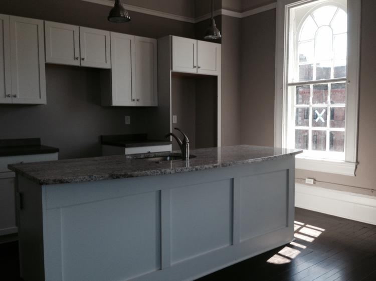Open Kitchen Layout at the 300 Alexander Apartments in Rochester, New York