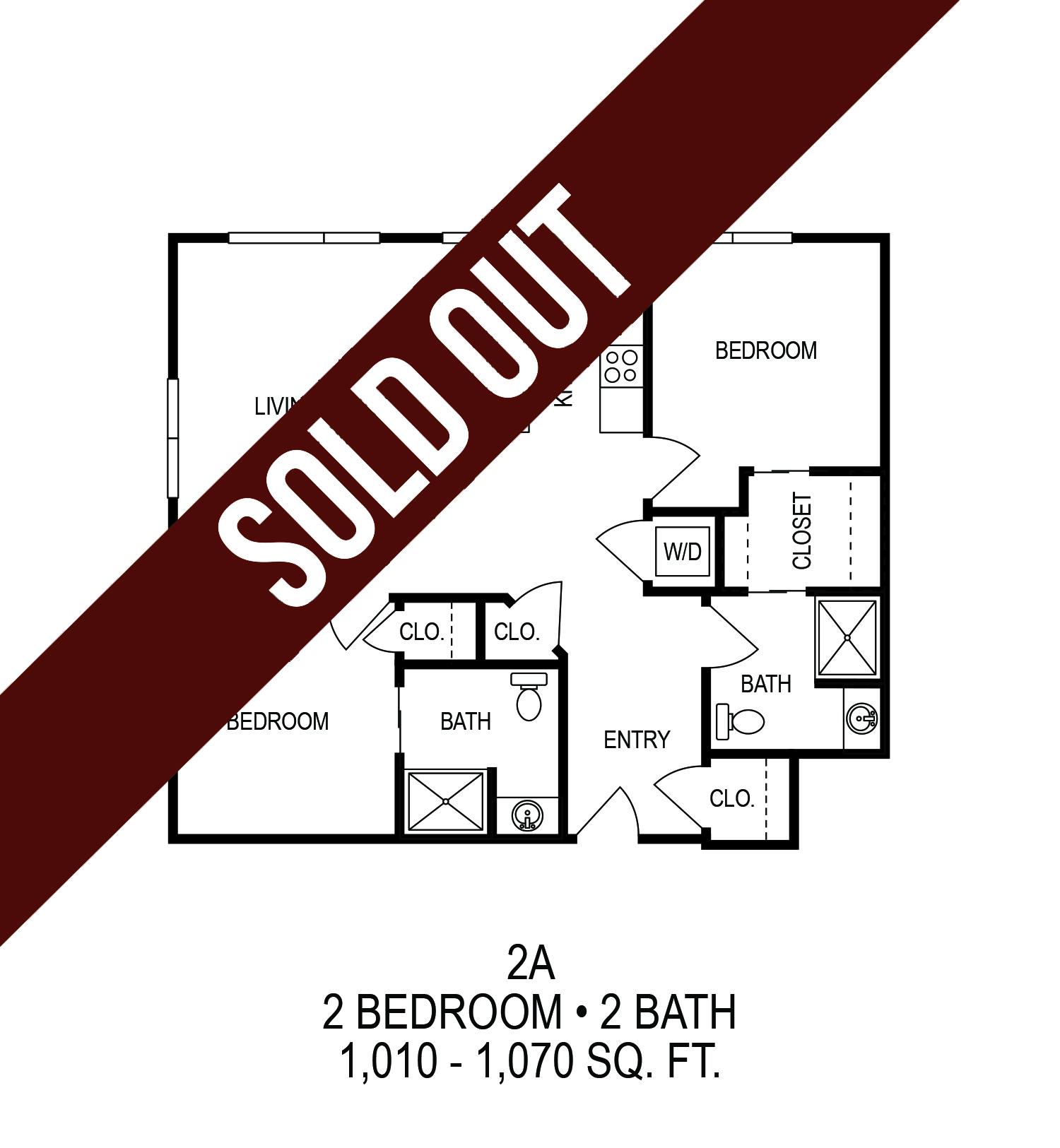 Floorplan - Two Bedroom (A)*  image