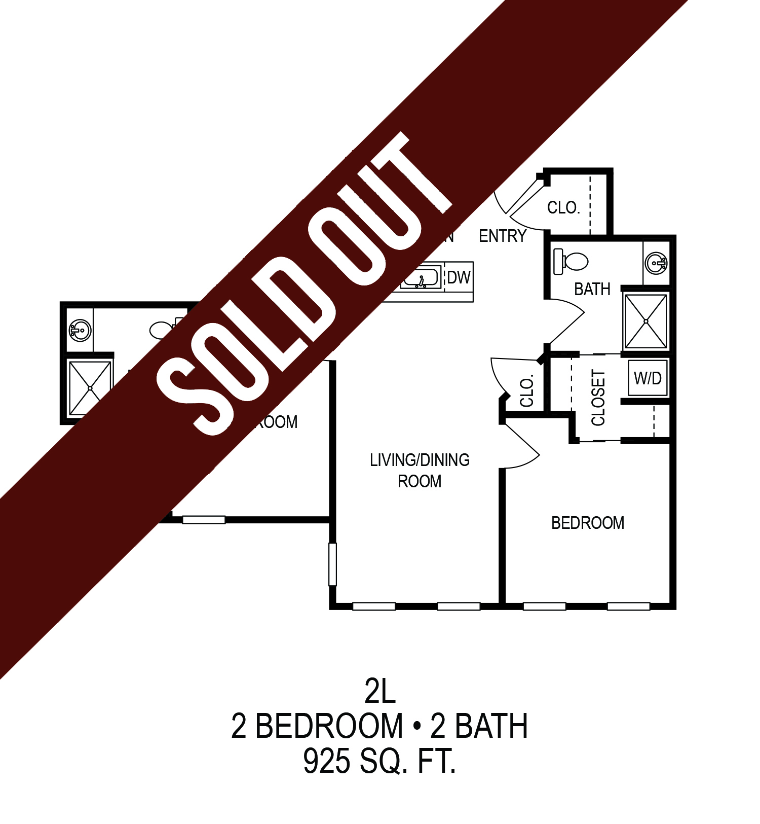 Floorplan - Two Bedroom (B)*  image