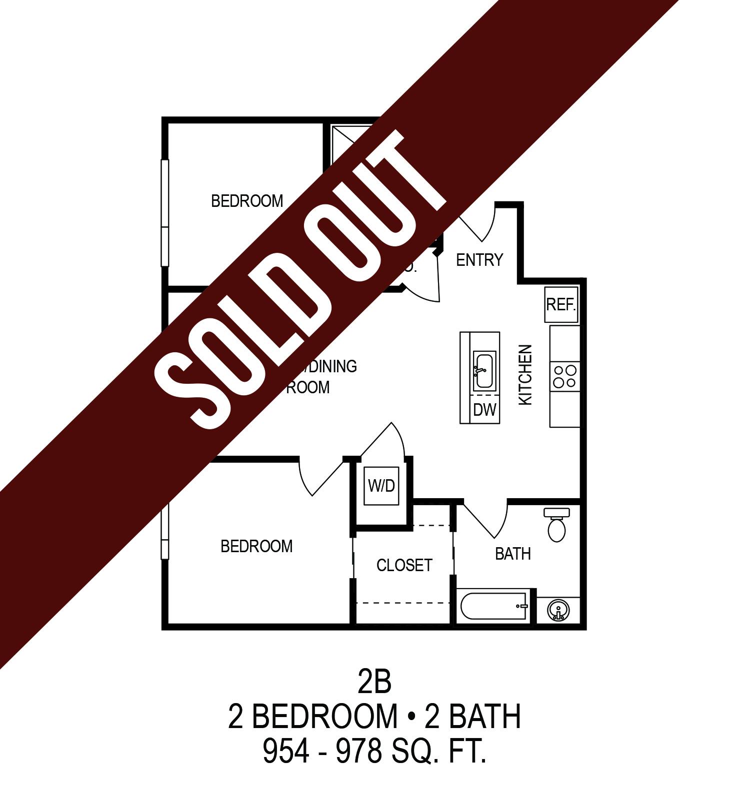 Floorplan - Two Bedroom (B)*  image
