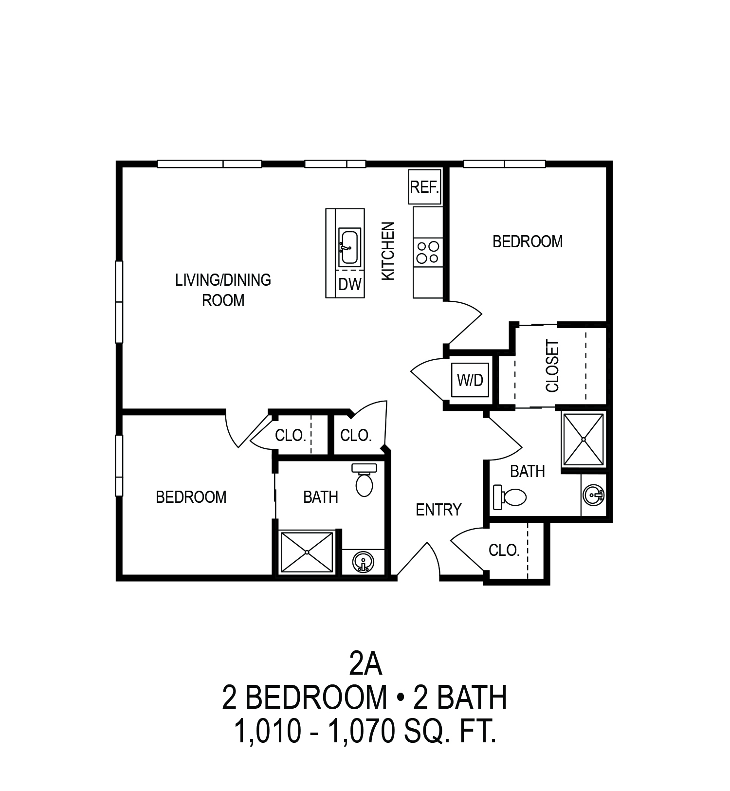 Floorplan - Two Bedroom (A)*  image