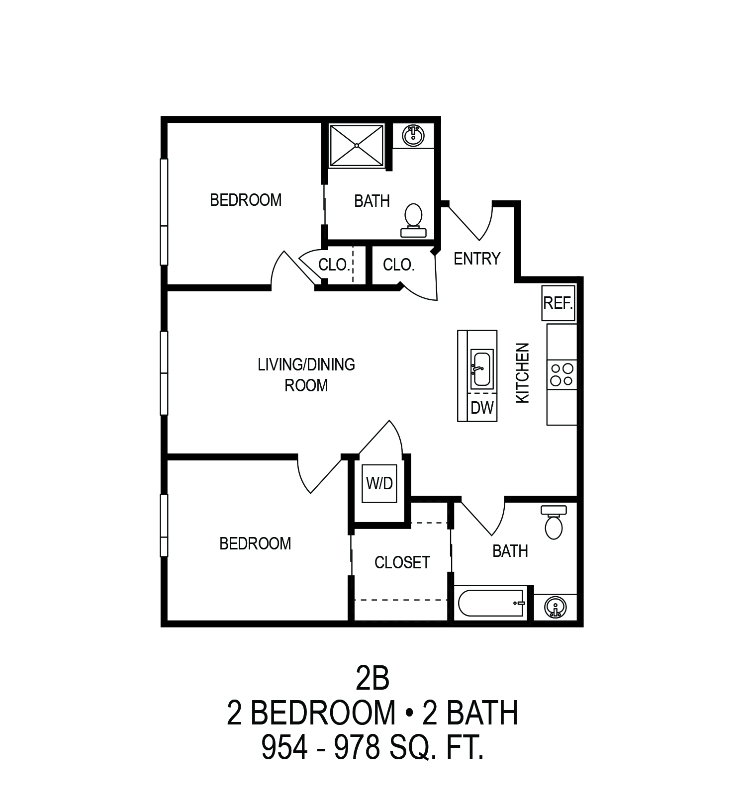 Informative Picture of 2(B) Two Bedroom Apartment