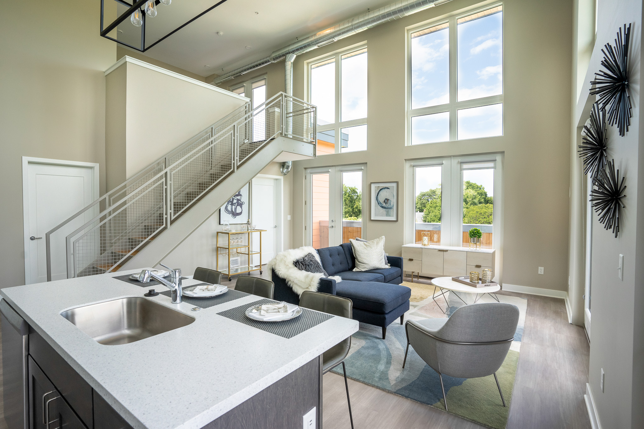 625 S. Goodman Apartments - Floorplan - 2 Bedroom Loft with Terrace