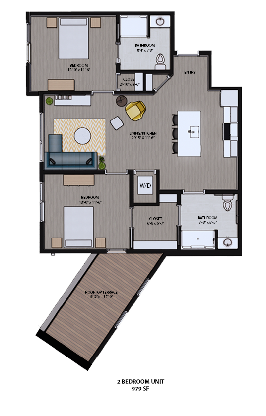 Spacious Floor Plans at 625. S Goodman Apartments in Rochester, New York