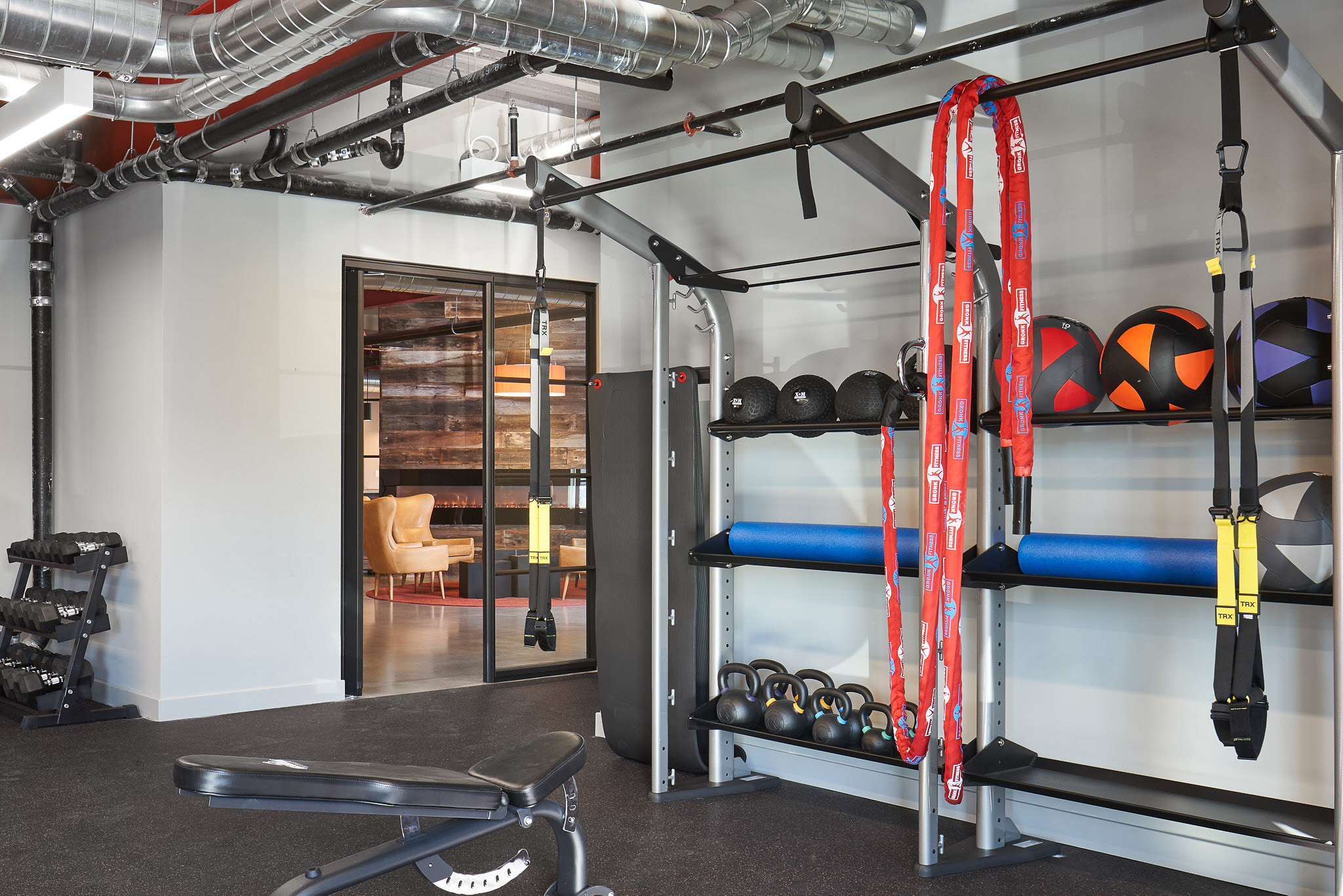 Gym at 625 S. Goodman Apartments in Rochester, New York