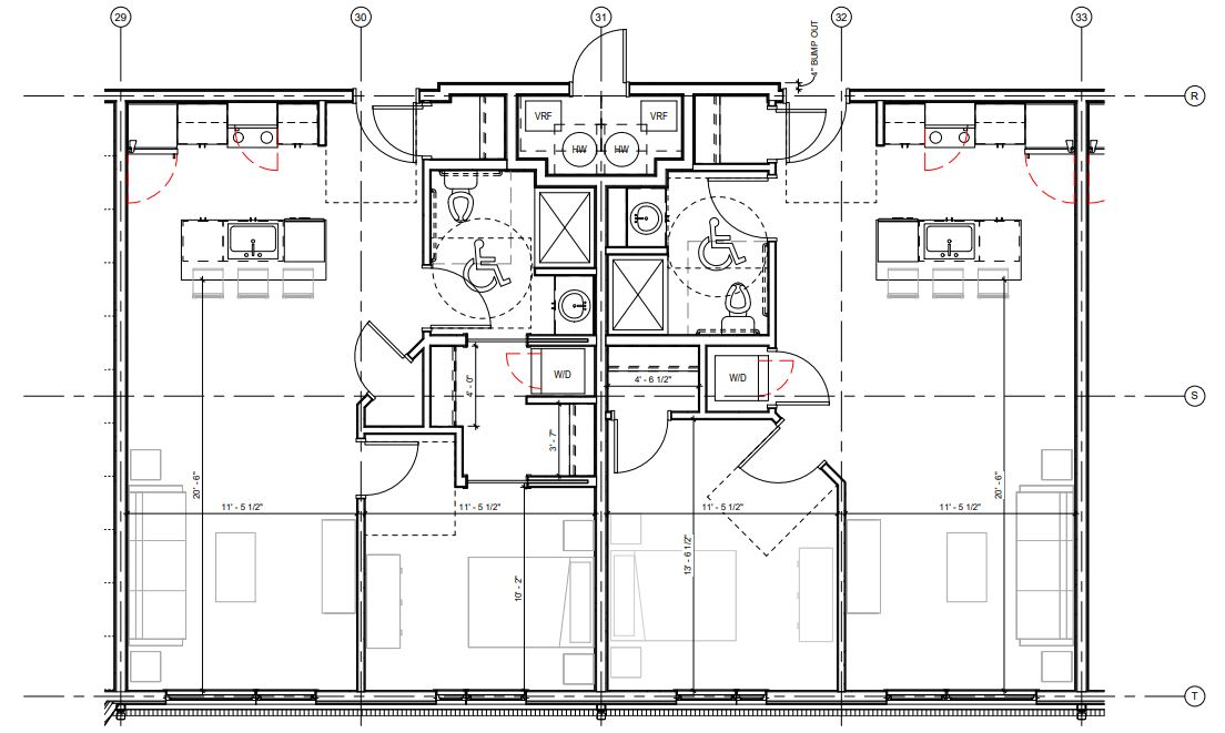 1 Bedroom Floor Plan at 625 S. Goodman Apartments in Rochester, New York