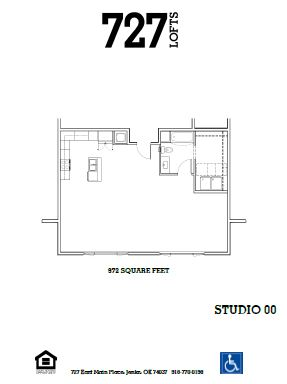 727 Lofts - Floorplan - Studio 00