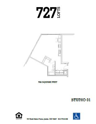 727 Lofts - Floorplan - Studio 01