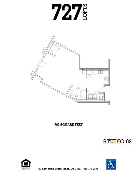 727 Lofts - Floorplan - Studio 02