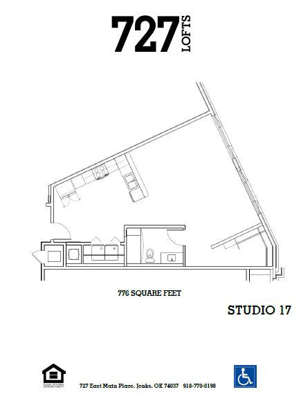 727 Lofts - Floorplan - Studio 17