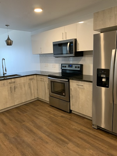 Fully Equipped Kitchen at 727 Lofts Apartments in Jenks, Oklahoma