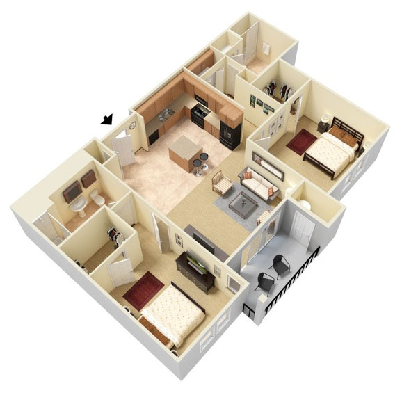 Abbey Lane - Floorplan - B1