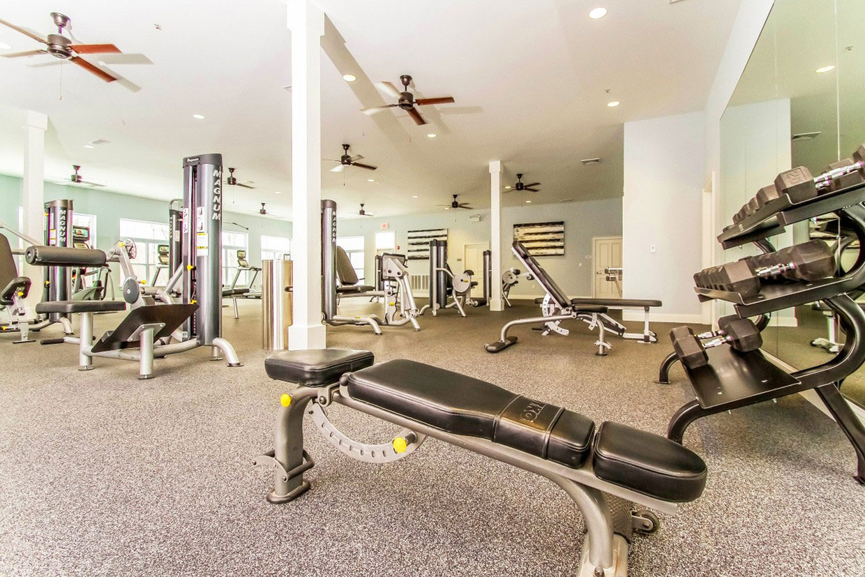 Fitness Equipment at Abbey Lane Apartments in Danbury, Connecticut