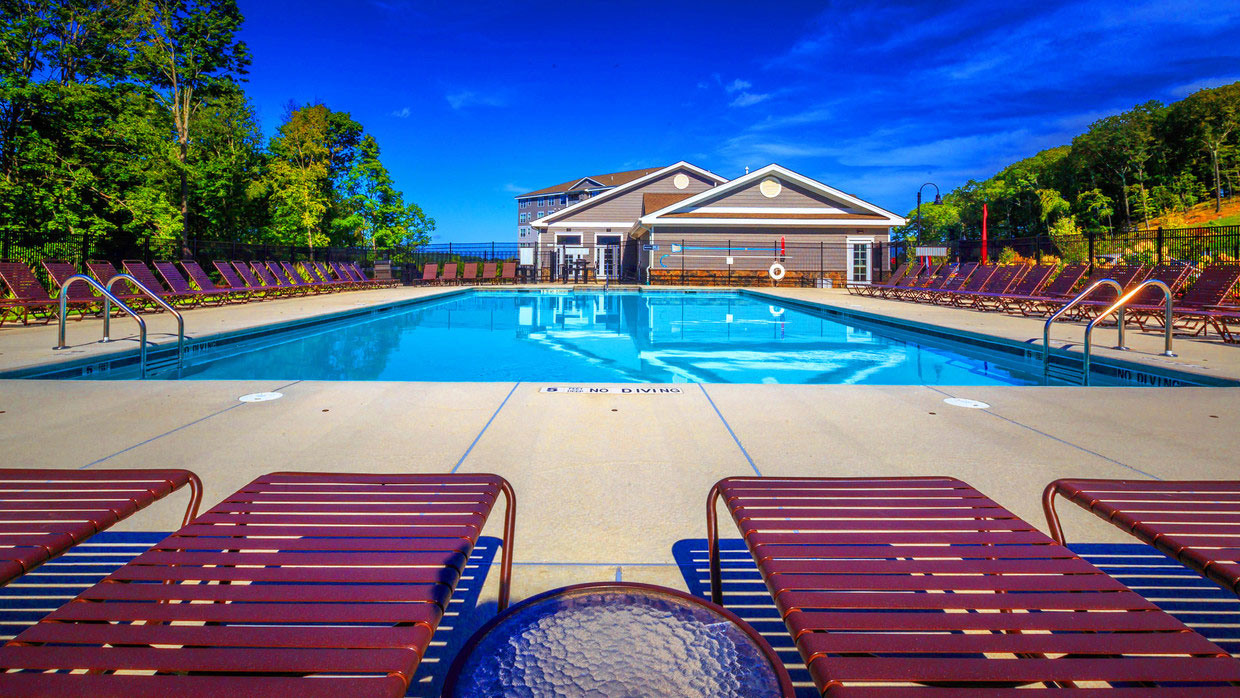 Heated Pool at Abbey Lane Apartments in Danbury, Connecticut