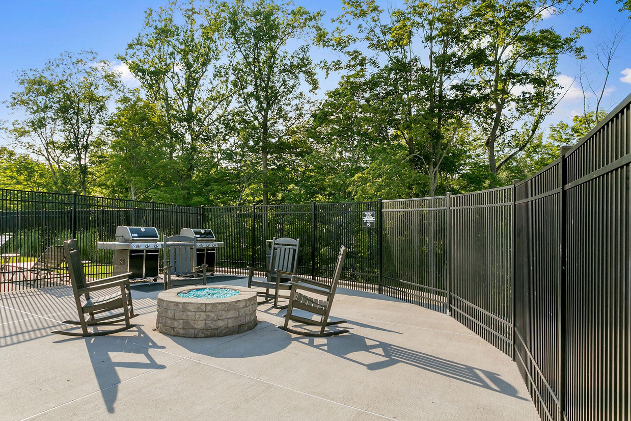 Outdoor Fire Pits at Abbey Lane Apartments in Danbury, Connecticut