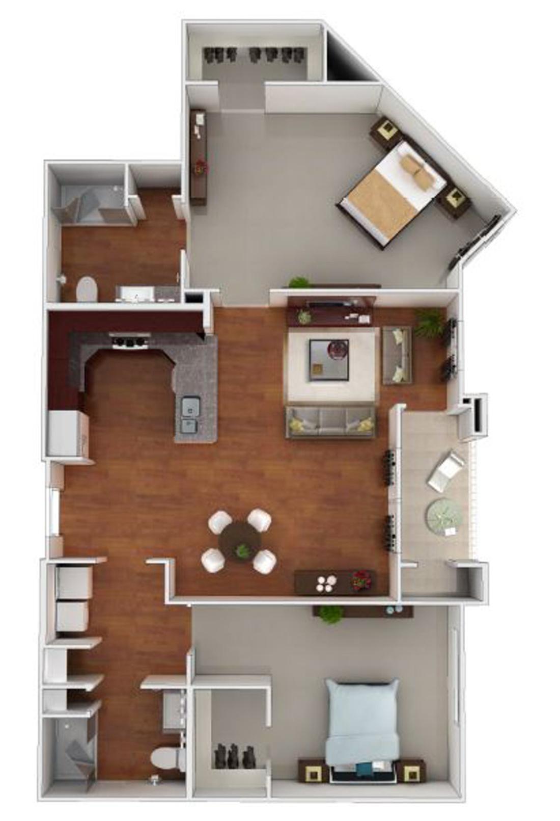 Larkspur at Twin Creeks 55+ Active Apartments - Floorplan - Bolinas