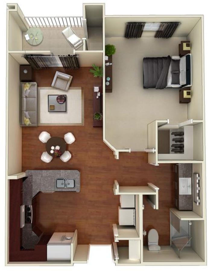 Larkspur at Twin Creeks 55+ Active Apartments - Floorplan - Stinson