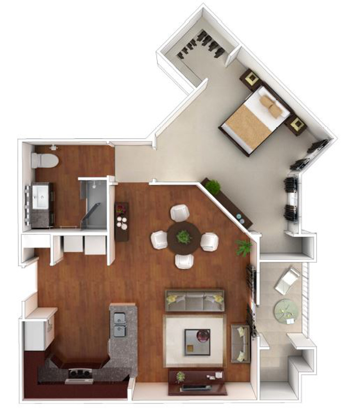 Larkspur at Twin Creeks 55+ Active Apartments - Floorplan - Dillon