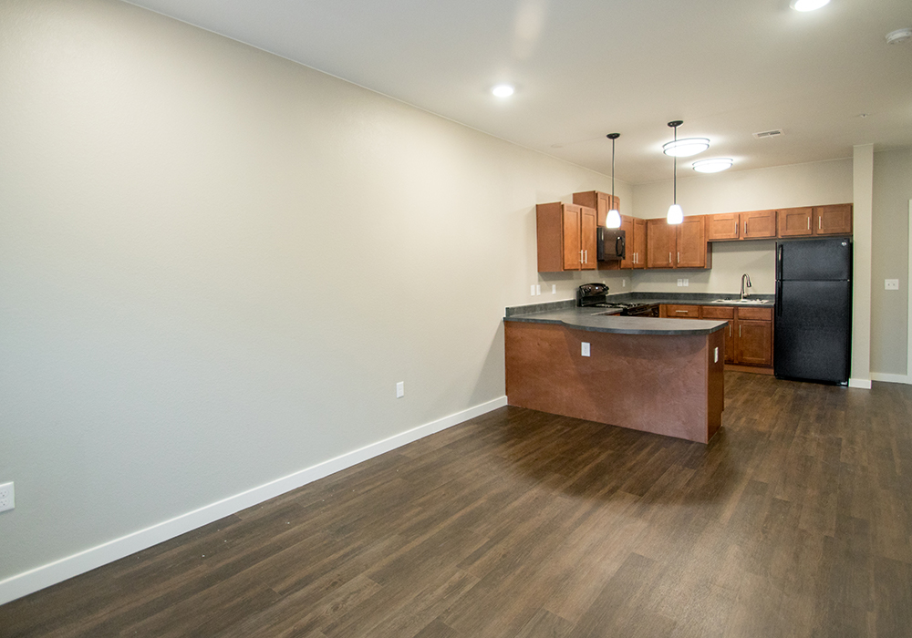 Open Kitchen with Ample Counter Space at The Residence at Alsbury Apartments in Burleson, Texas