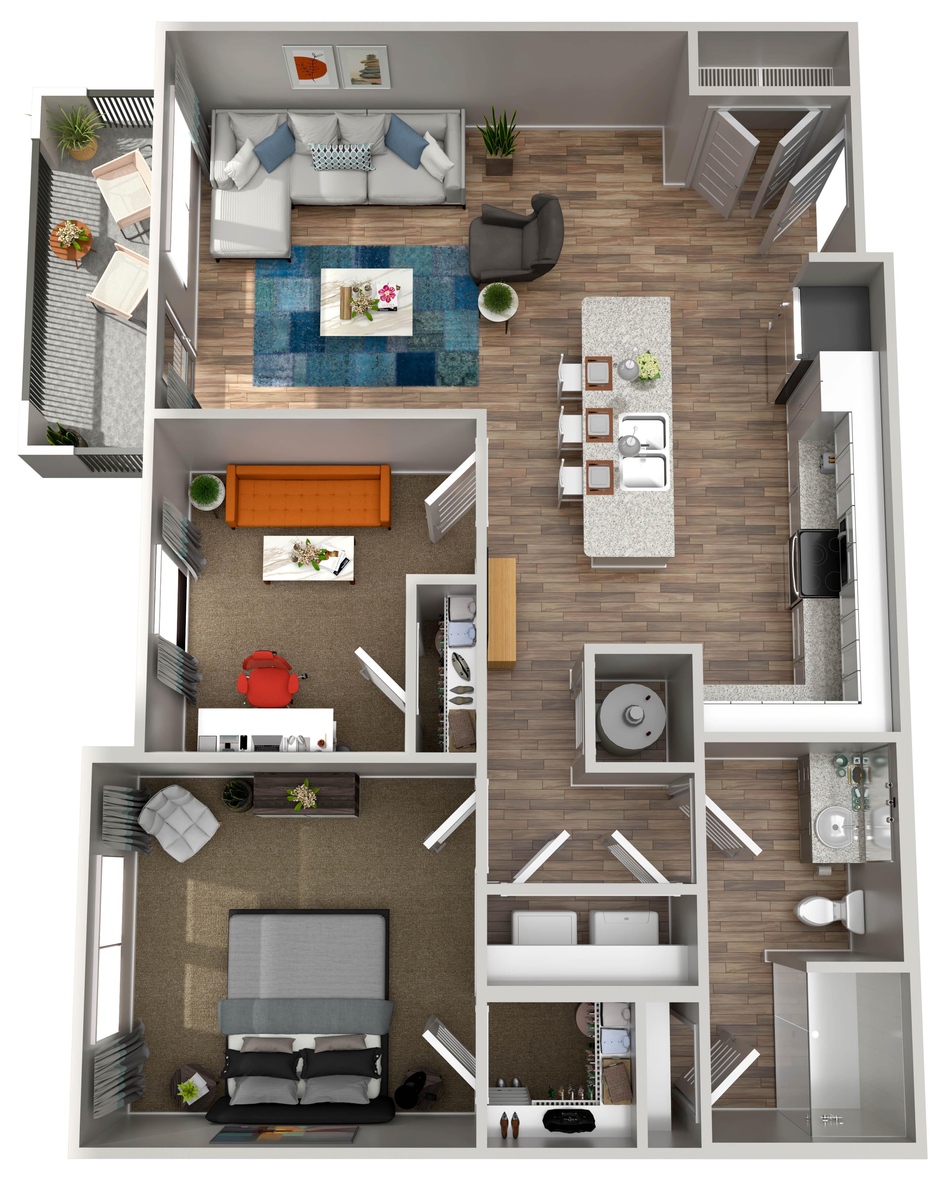 Annabelle on Main - Floorplan - A3 w/ Den