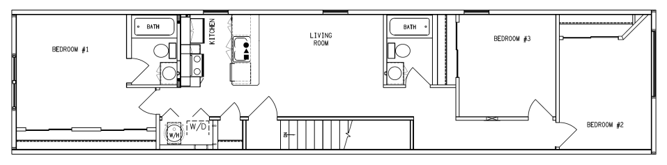 The Apartments at Brewerytown - Floorplan - Third Floor Three Bedroom