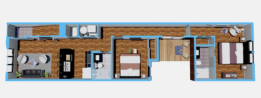 The Annex at Brewerytown - Floorplan - First Floor 2 Bedroom