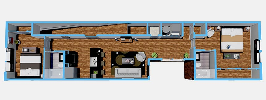 Floorplan - Second Floor 2 Bedroom image