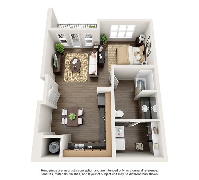 Apex 5510 Apartments - Floorplan - Bear Peak - Loft