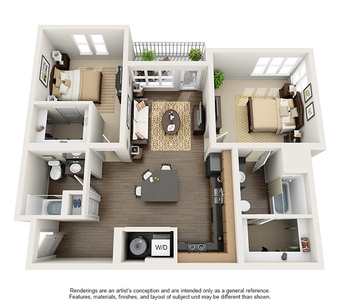 Apex 5510 Apartments - Floorplan - Bitterbrush