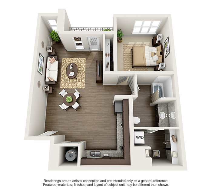 Apex 5510 Apartments - Floorplan - Castle Peak
