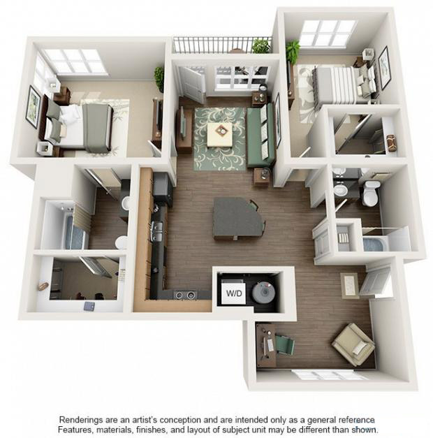 Apex 5510 Apartments - Floorplan - Cherryvale