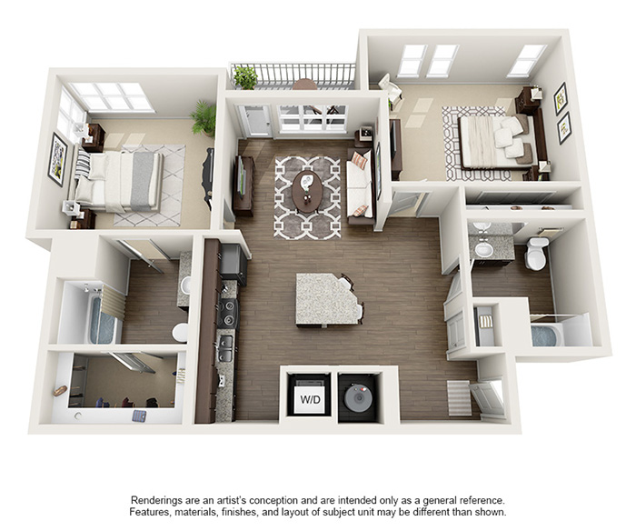 Apex 5510 Apartments - Floorplan - Cottonwood