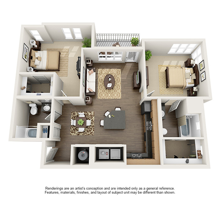 Apex 5510 Apartments - Floorplan - Foothills