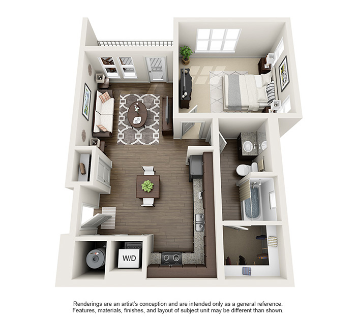Apex 5510 Apartments - Floorplan - Gray's Peak