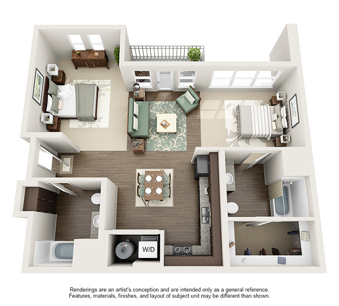 Apex 5510 Apartments - Floorplan - Lobo - Loft