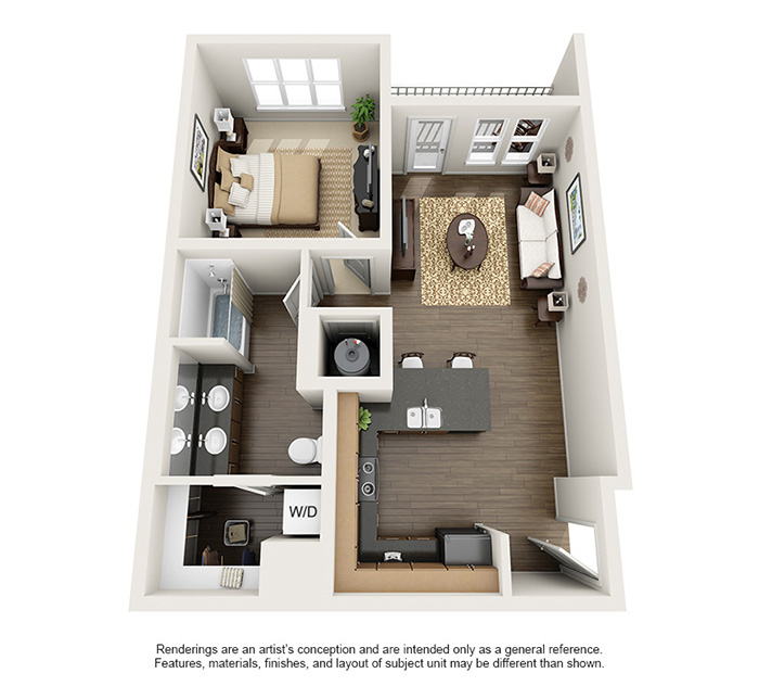 Apex 5510 Apartments - Floorplan - Long's Peak