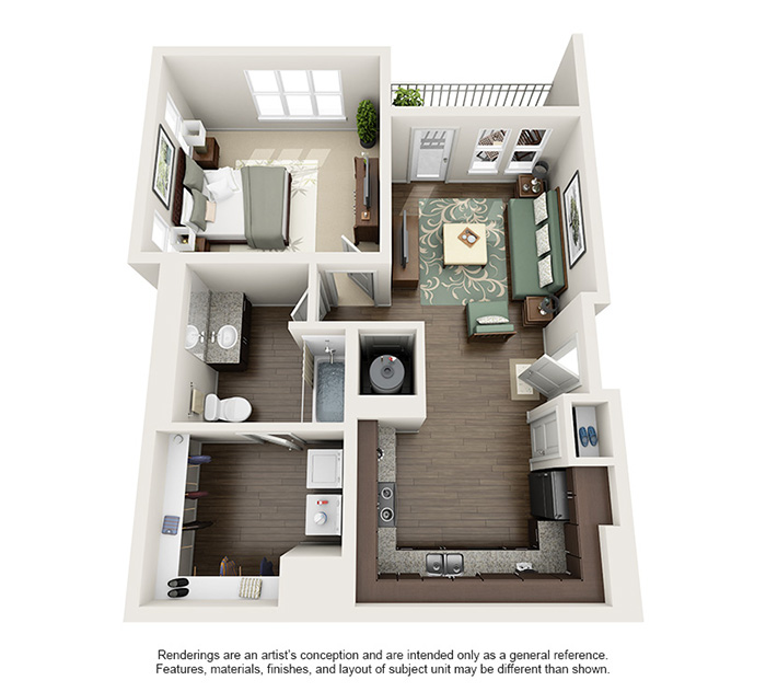 Apex 5510 Apartments - Floorplan - Pike's Peak